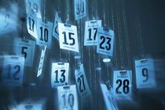 Abstrakter Kalender-Zeit-Hintergrund Lizenzfreies Stockfoto