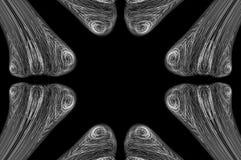 Abstrakter Knochen-Röntgenstrahl-Hintergrund Stockbild