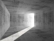 Abstrakter konkreter Rauminnenraum mit Lichtstrahl stock abbildung