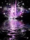 Abstrakter kosmischer Feiertagshintergrund vektor abbildung