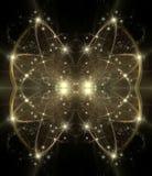 Abstrakter kosmischer Feiertagshintergrund stock abbildung