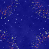 Abstrakter kosmischer Hintergrund mit Feuerwerk Lizenzfreie Stockbilder