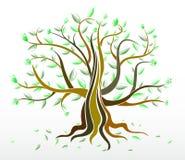 Abstrakter kreativer Baum Lizenzfreie Stockfotos