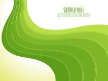 Abstrakter kreativer Hintergrund der grünen Welle Lizenzfreie Stockbilder