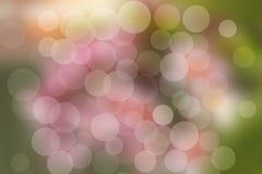 Abstrakter Kreis-bokeh Hintergrund der Blume Stockfotografie