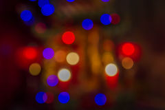 Abstrakter Kreis-bokeh Hintergrund von Christmaslight Lizenzfreie Stockfotografie