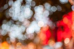 Abstrakter Kreis-bokeh Hintergrund von Christmaslight stockfotografie