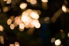 Abstrakter Kreis-bokeh Hintergrund von Christmaslight Stockfoto
