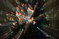 Abstrakter Kreis-bokeh Hintergrund von Christmaslight Stockbild