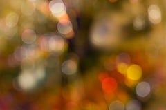 Abstrakter Kreis-bokeh Hintergrund von Christmaslight Lizenzfreies Stockbild
