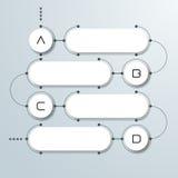 Abstrakter Kreis des Weißbuches 3d auf hellgrauem Hintergrund Einfache schrittweise Schablone Infographic Stockfotografie