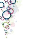 Abstrakter Kreis-Hintergrund Stockfoto