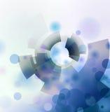 Abstrakter Kreis- und Formbeschaffenheitshintergrund Lizenzfreie Stockfotografie