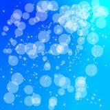 Abstrakter Kreisaqua-Blauhintergrund Lizenzfreie Stockbilder