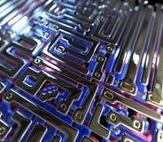 Abstrakter Kreisläuf innerhalb des Mikrochips Lizenzfreie Stockfotos
