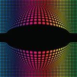 Abstrakter kugelförmiger Mehrfarbenhintergrund Stockfotos