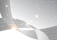 Abstrakter Kurvenhintergrund, graue Schablone vektor abbildung