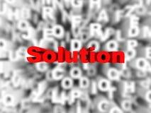 Abstrakter Lösungshintergrund Lizenzfreies Stockfoto