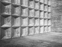 Abstrakter leerer konkreter Raum Innen-3d Lizenzfreies Stockbild