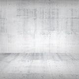 Abstrakter leerer weißer konkreter Innenraum Stockbilder