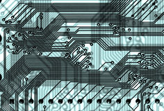 Abstrakter Leiterplattehintergrund in der Hightech- Art Stockbild