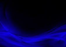 Abstrakter leuchtender blauer und schwarzer Hintergrund Stockfoto