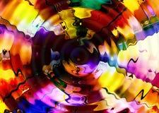 Abstrakter leuchtender Mehrfarbenhintergrund mit dem Wirbeln und Bewegung Lizenzfreie Stockbilder