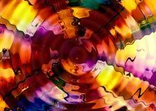 Abstrakter leuchtender Mehrfarbenhintergrund mit dem Wirbeln und Bewegung Stockbild