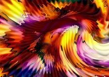 Abstrakter leuchtender Mehrfarbenhintergrund mit dem Wirbeln und Bewegung Stockfoto