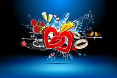 Abstrakter Liebes-Hintergrund stock abbildung