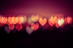 Abstrakter Liebes- oder Herzform bokeh Hintergrund von Kuala Lumpur Lizenzfreie Stockfotografie
