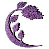 Abstrakter lila Baum Stockbild