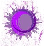 Abstrakter lila Hintergrund mit Ring Lizenzfreie Stockfotografie