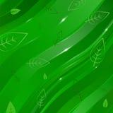 Abstrakter linearer Hintergrund mit Blättern für Design Stock Abbildung