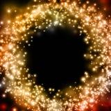 Abstrakter luninous Goldhintergrund lizenzfreie abbildung