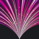 Abstrakter magentaroter Streifenhintergrund mit Sternen Stockfotografie
