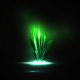 Abstrakter magischer Kristall Stockbild