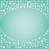 Abstrakter magischer rosa Stern mit Raum für Text auf blauem Hintergrund Stockfotografie