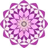 Abstrakter Mandalalotos-Blumenmusterentwurf vektor abbildung