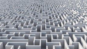 Abstrakter Maze Architecture Stockbild