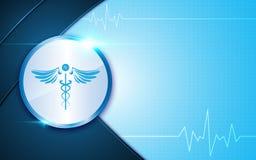 Abstrakter medizinischer Apothekenmedizininnovations-Konzepthintergrund stock abbildung