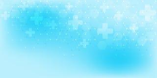 Abstrakter medizinischer Hintergrund mit Hexagonmuster Konzepte und Ideen f?r Gesundheitswesentechnologie, Innovationsmedizin vektor abbildung