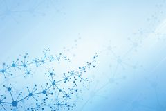 Abstrakter medizinischer Hintergrund mit molekularem Gitter Stockbild