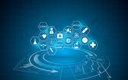 Abstrakter medizinischer Innovationskonzepthintergrund Lizenzfreie Stockfotografie