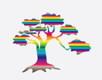 Abstrakter Mehrfarbenbaum vektor abbildung