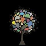 Abstrakter Mehrfarbenbaum stock abbildung