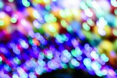 Abstrakter mehrfarbiger bokeh Lichthintergrund, defocused Unschärfe Lizenzfreie Stockfotografie