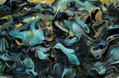 Abstrakter mehrfarbiger Farbenmarmorierunghintergrund Acrylbeschaffenheit Stockfotografie
