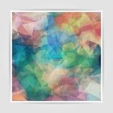 Abstrakter mehrfarbiger geometrischer Hintergrund mit dreieckigem polyg Stockfoto