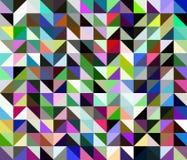 Abstrakter mehrfarbiger geometrischer polygonaler Hintergrund Lizenzfreies Stockbild